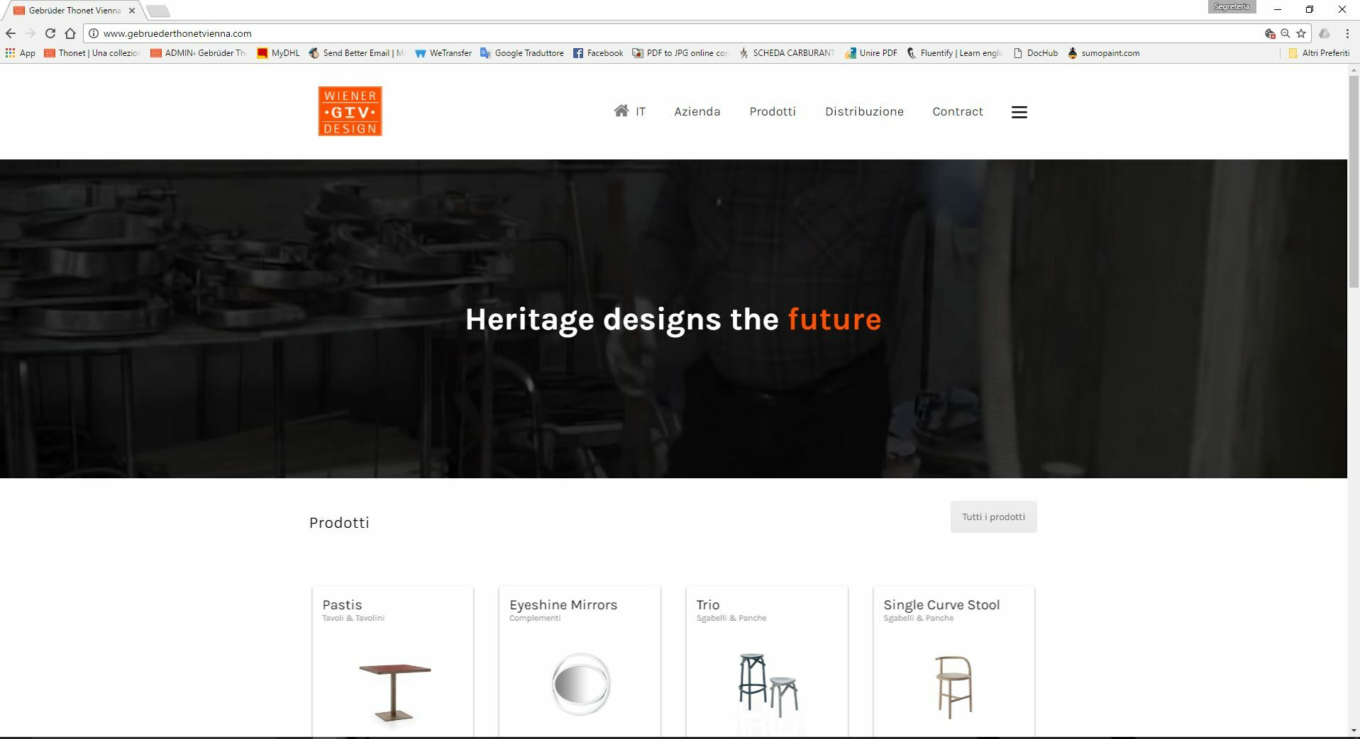New website and new catalogue for gebrüder thonet vienna gmbh