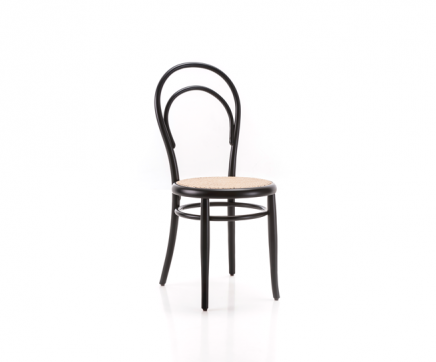 sedia thonet 14 con seduta in paglia di vienna e legno curvato