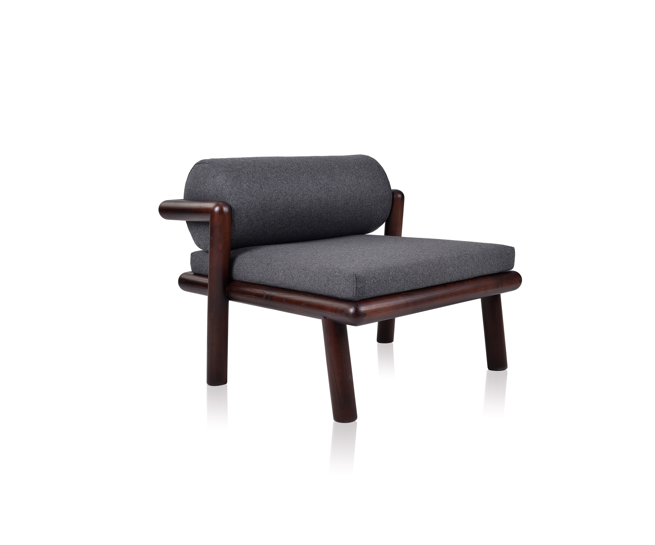 Hold on Thonet padded lounge chair