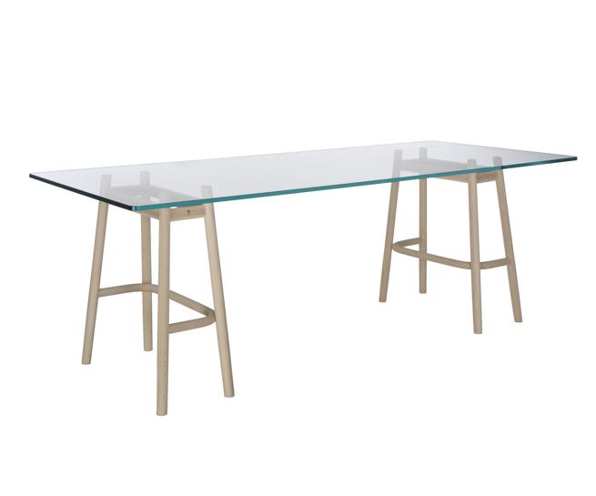 thonet dining table nendo single curve
