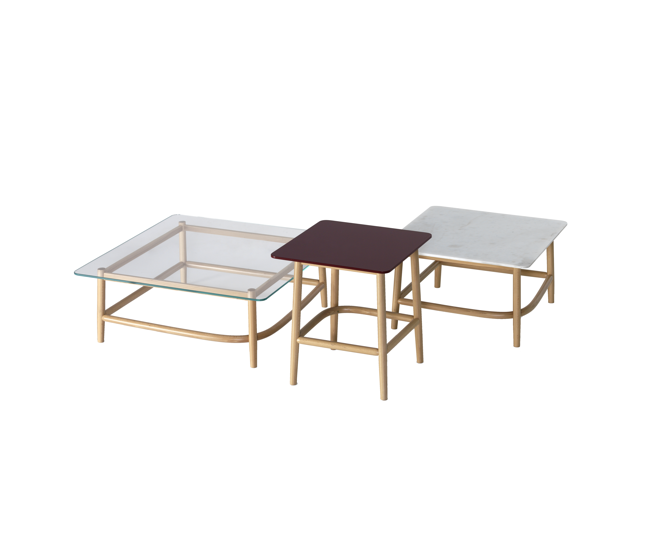 thonet single curve tables by nendo