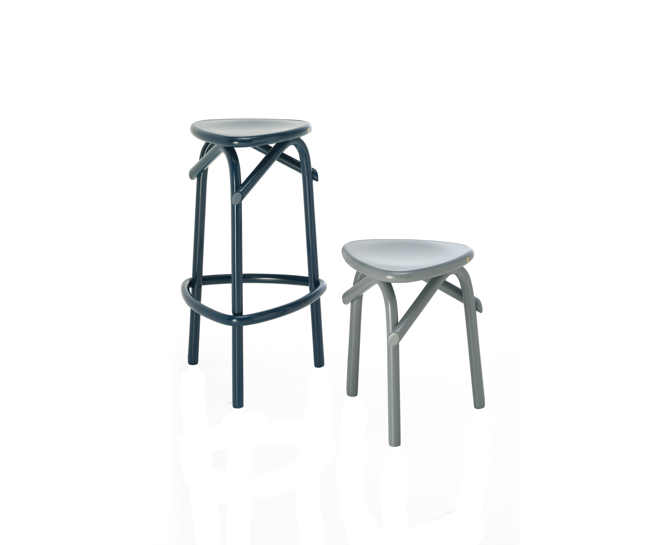 trio thonet stool barstool
