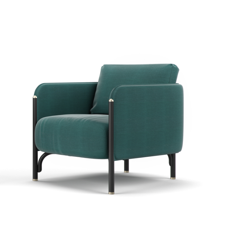 GTV Upholstered armchair by Dainelli Studio